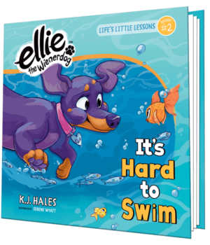 It's Hard to Swim - Children's Book